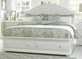 White Storage Bed Cottage Queen Bed With Storage Footboard By Liberty Furniture