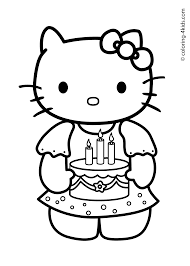 fresh hello kitty birthday coloring pages 97 on line drawings with