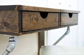 easy rustic industrial wall mounted desk build plans a houseful