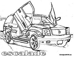 coloring picture cadillac escalade pages book for 771139