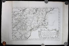 Map Of New York And Pennsylvania by 1757 Map Of New England New York And Pennsylvania Chadbourne