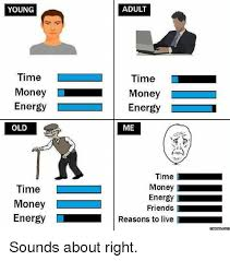 Old Time Meme - adult young time time money l money energy energy me old time