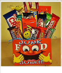 Junk Food Gift Baskets Food Junkie Fruit And Gourmet Giftbaskets By Blossoms Florist