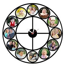 personalized clocks with pictures personalized 12pc wall clock 06 personalized gifts corporate
