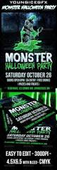 Monster Halloween Party Monster Halloween Party Flyer Green Fonts And Halloween
