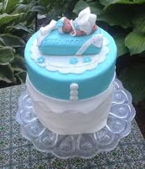 Tiffany Blue Baby Shower Cake - pink and tiffany green inspired baby shower cake for diy ideas