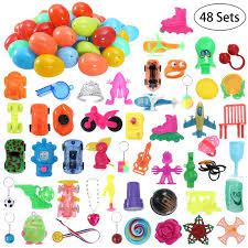 easter eggs filled with toys ibasetoy 48pcs bright eggs filled with mini toys plastic