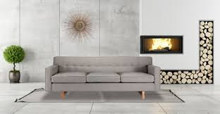 Grey Modern Sofa by Furniture Mid Century Sofa With Standing Lamp And White Wall