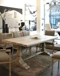 Distressed Pedestal Dining Table Pine Distressed Trestle Pedestal Dining Table With Wooden Chairs