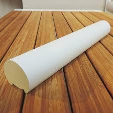 corrimano pvc corrimano vero legno tondo ayous diametro 47 x 3000 mm laccato