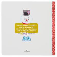 itty bittys frosty snowman stuffed animal storybook