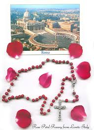 petal rosary free st postcard mailed from rome with petal rosaries