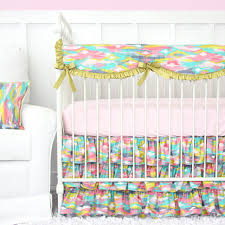 girls bedding collections pastel nursery design with bright pastel baby bedding u2013 caden lane