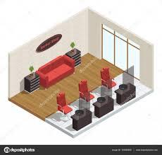 barber shop isometric interior u2014 stock vector macrovector 144064839