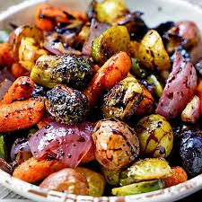 easy roasted vegetables with honey and balsamic syrup kevin is