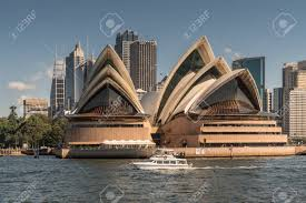 opera tower front desk number sydney australia march 26 2017 frontal view of opera house