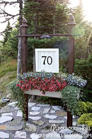 Diy House Alderberry Hill House Number Sign My Outside Spot Pinterest