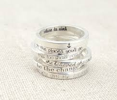 inspirational rings personalized ring dainty stacking ring inspirational ring