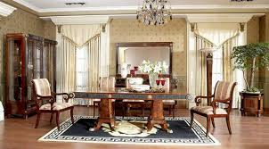 luxury italian style dining room furniture small room fireplace in
