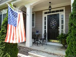 Front Porch Flag Pole Welcome To Our Front Porch Memorial Day Decor