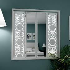 mirror window shutters in lace design decorative window shutters