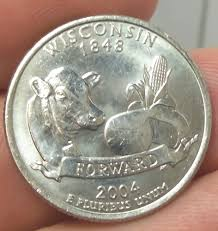 2004 d wisconsin state low leaf error quarter coin only