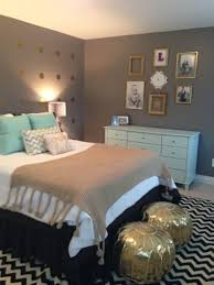 Gray And Teal Bedroom by Bold Design Gold And Grey Bedroom Bedroom Ideas
