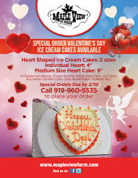 order your valentine u0027s day cakes by february 10 u2013 maple view farm
