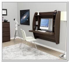 prepac espresso floating desk with storage