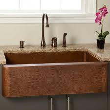 copper apron front sink luxury copper kitchen farmhouse sinks native trails new hammered