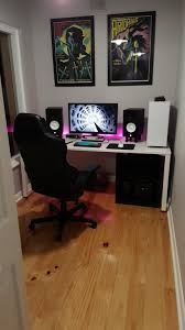 video game room ideas for small rooms desk setup accessories