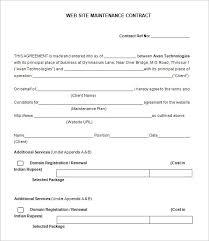 12 maintenance contract templates u2013 free word pdf documents
