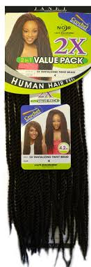 noir pre twisted senegalese twist janet collection noir crochet braid 2x tantalizing twist braid 2in1
