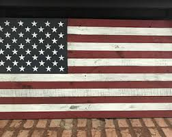 American Flag Home Decor Rustic American Flag Etsy