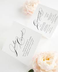 folded wedding program wedding program with large names wedding programs by shine