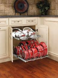 Kitchen Cabinet Organizers Home Depot by Rev A Shelf 18 13 In H X 20 75 In W X 22 In D Pull Out Two Tier