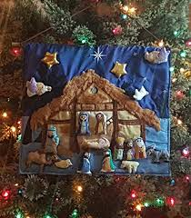 Amazon Com Christmas Nativity Set Interactive Fabric Nativity