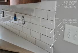 Backsplash Subway Tile For Kitchen Kitchen How To Install A Subway Tile Kitchen Backsplash