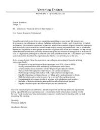 financial services cover letter