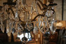 antique chandelier antique french 5 light brass and crystal chandelier sold