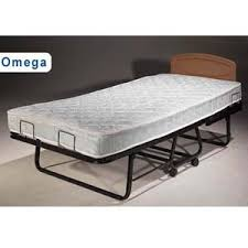 Folding Bed With Mattress Rent The Omega Folding Bed With Orthopedic Mattress Su Rollaway