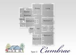 Floor Plan 4 Bedroom Bungalow Bute Homes Eastlands Park Floor Plans