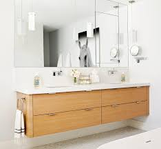 bathroom shaving mirrors wall mounted floating double vanity contemporary bathroom jennifer worts design
