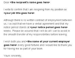 sample letter of resignation from a job resignation letter