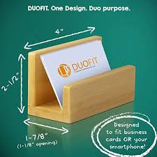 Desk Business Card Holder For Men Bamboo Business Card Holder Eco Friendly Business Card Holder U2013 Zoalux