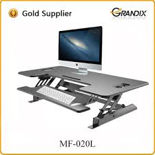 Height Of A Computer Desk Adjustable Height Desk Riser Sturdy 48inches Wide Sit Stand Up