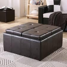 Ottoman Coffee Table With Storage Cube Ottomans U0026 Poufs You U0027ll Love Wayfair