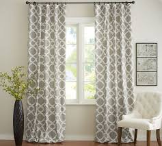 How To Hang Pottery Barn Curtains Kendra Trellis Drape Pottery Barn