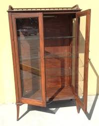 antique curio cabinet with curved glass antique curio cabinet replacement curved glass for curio cabinet oak