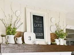 kitchen mantel ideas decorate your mantel year hgtv